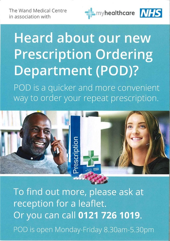 NHS Precscription Ordering Department